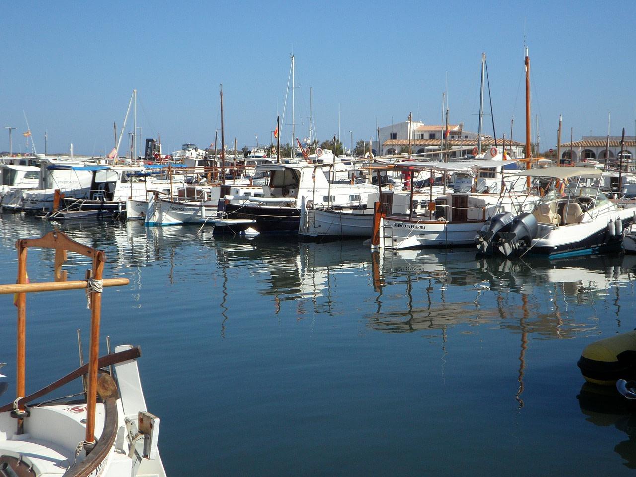 Barcos del puerto de la Colonia de Sant Jordi