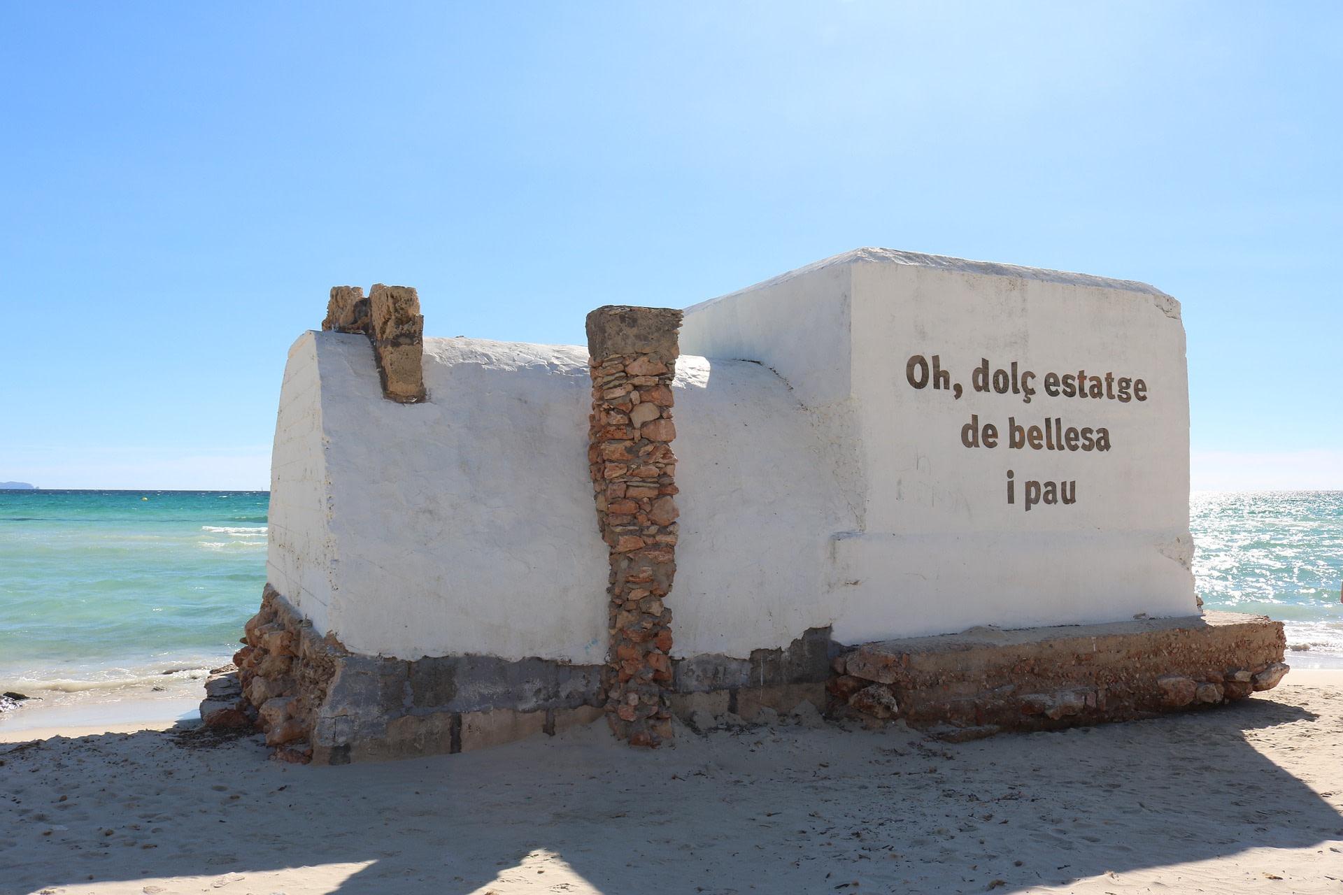 Bunker am Strand von Es Trenc in La colònia de Sant Jordi